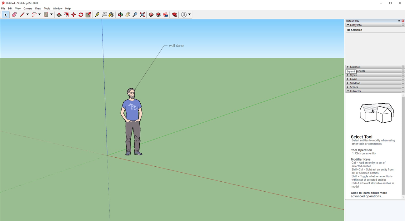 Start your SketchUp Pro experience.