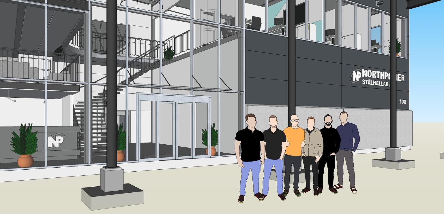 he Northpower Stålhallar team in SketchUp