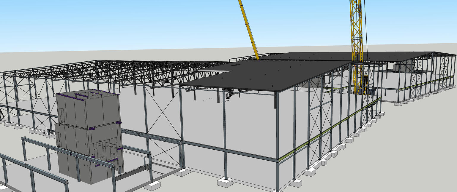 A 3D SketchUp model allows the Northpower Stålhallar team to visualize what they want to build