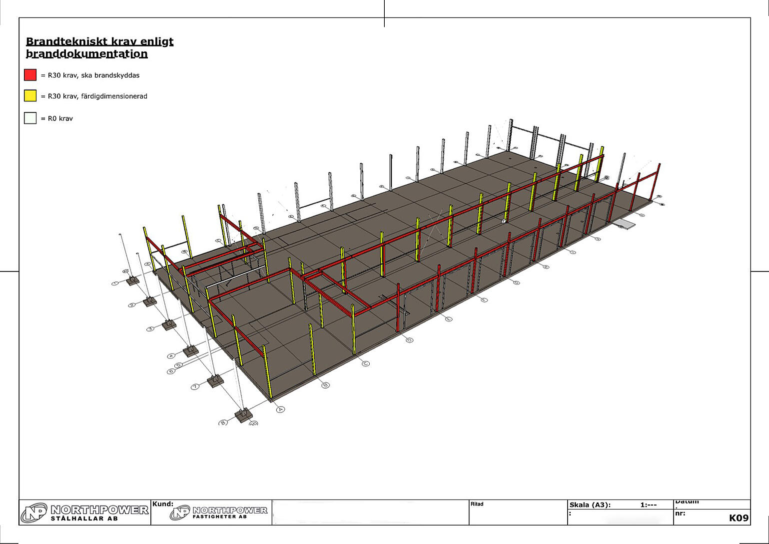 A construction drawing created in LayOut