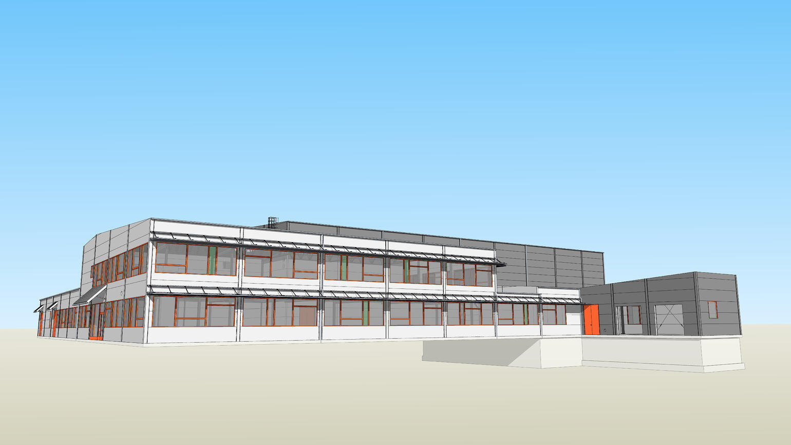 Northpower Stålhallar takes this design all the way to finished project using SketchUp