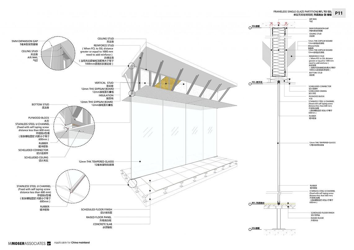 Project drawing in SketchUp LayOut of construction in details.