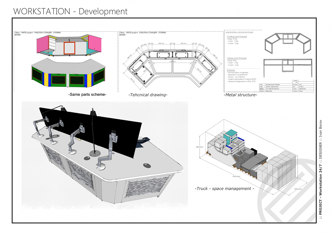 Working SketchUp drawings in LayOut for a bespoke maritime workstation.
