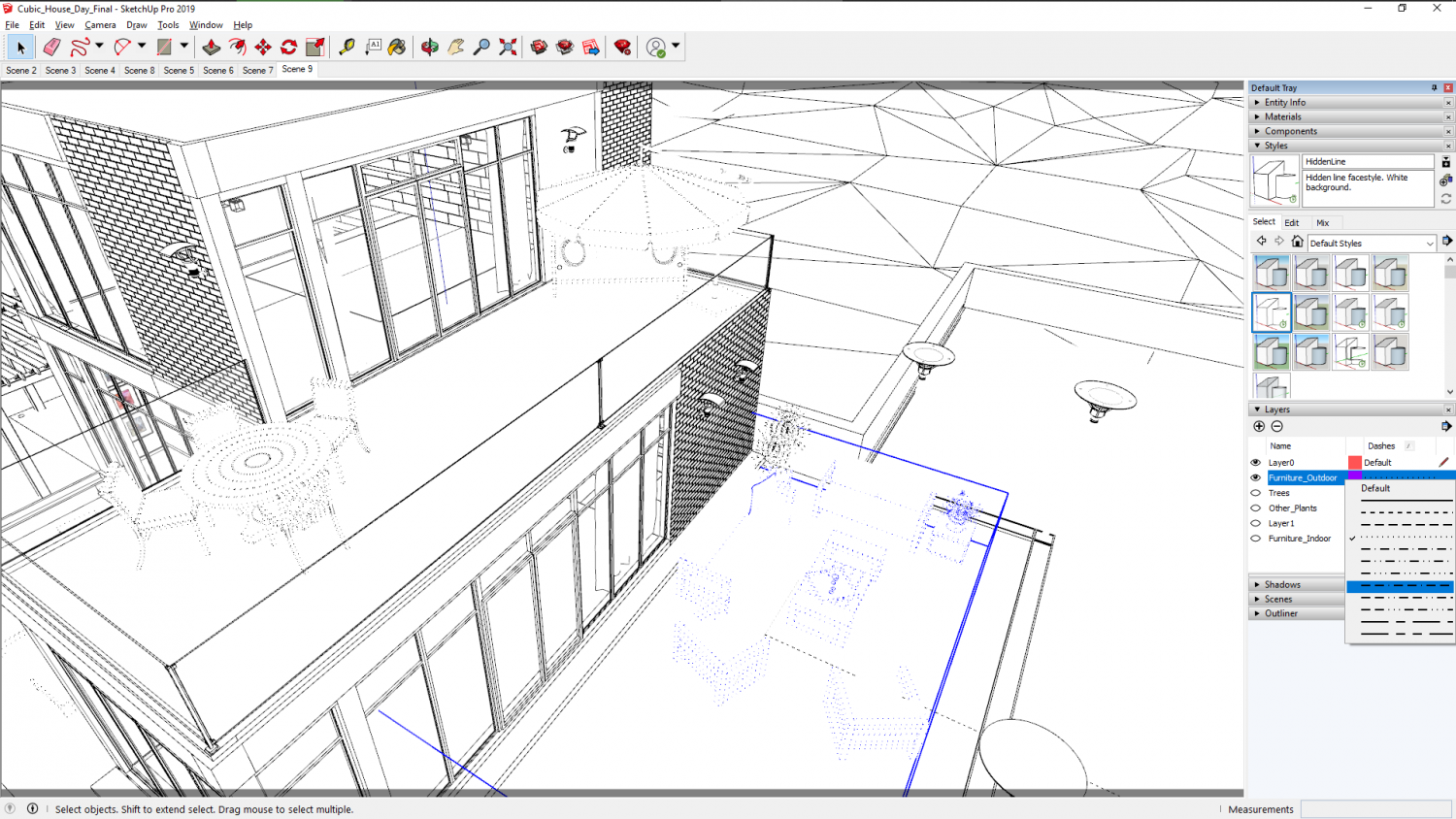 Modeling and Organization Tools in SketchUp 2019