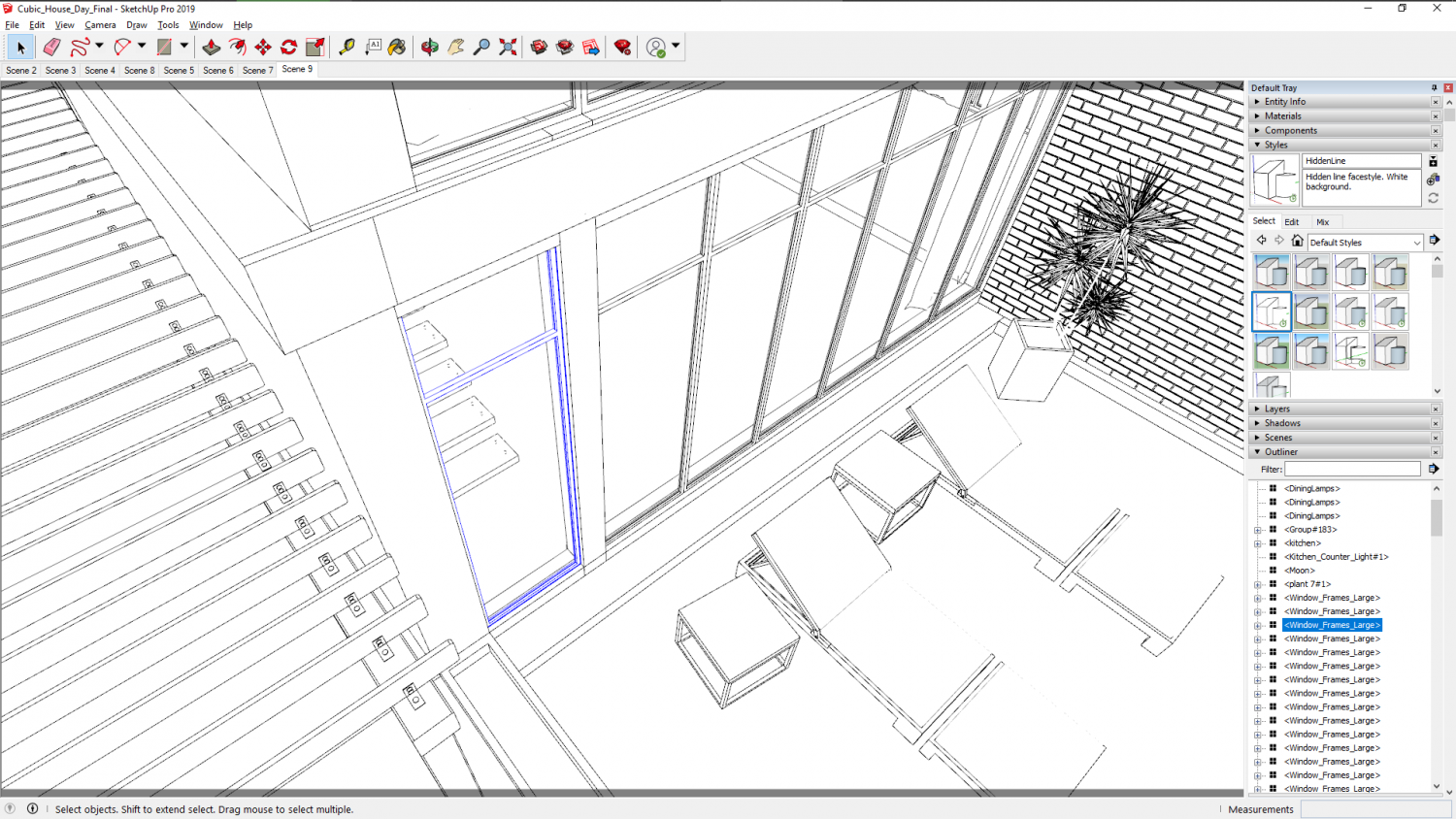The Outliner in SketchUp