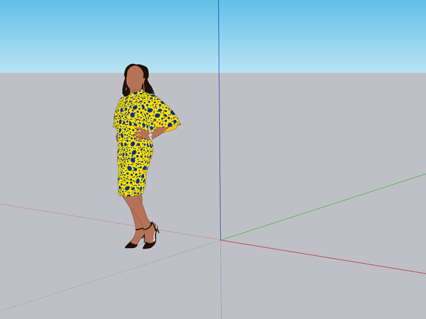 the scale figure to SketchUp Pro 2021: Sumele Aruofor