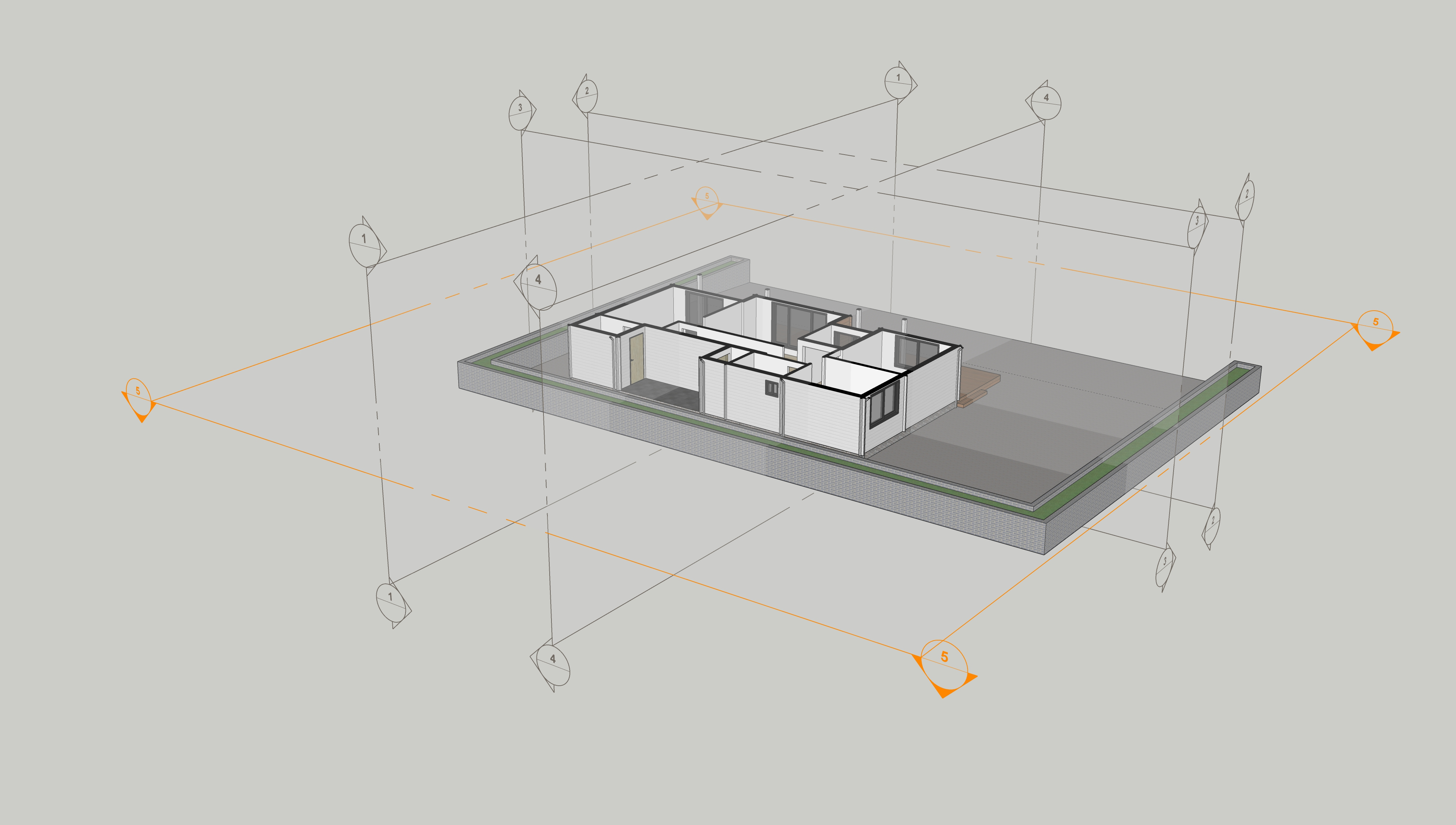 Cutting plan and sections in SketchUp