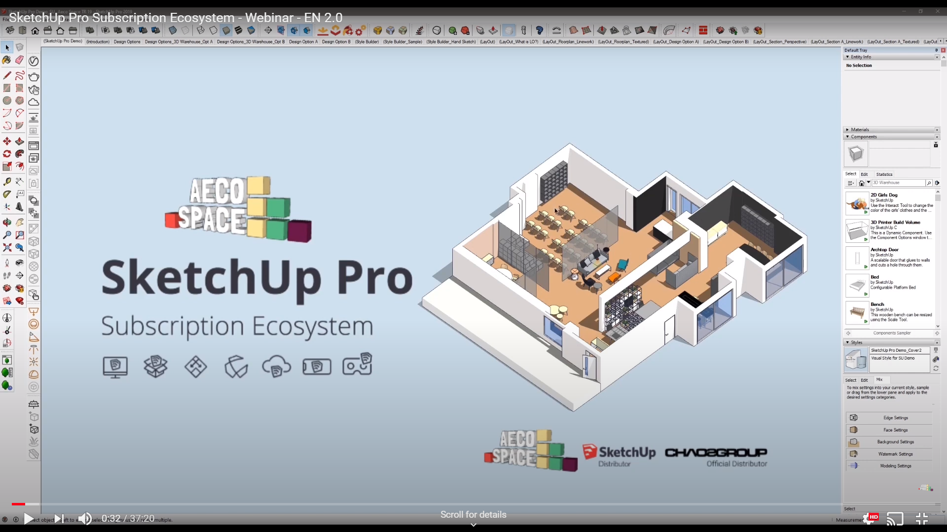 SketchUp Pro Subscription Ecosystem - Webinar by AECO Space - EN